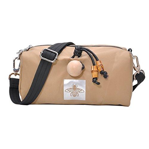 Nylon DIYNP Satchel Women Crossbody for Girls Handbags Shoulder Casual Travel Khaki Sling Bag Bag Purse x0wZ0q1nrf