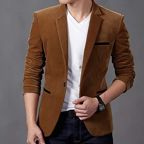 Classique Electri Bureau À Tops Manches Longues Manteau Blazer Blouse Homme 1 Kaki Veste Svelte De D'affaires Hiver Slim Automne Costume 8zT8qwtr