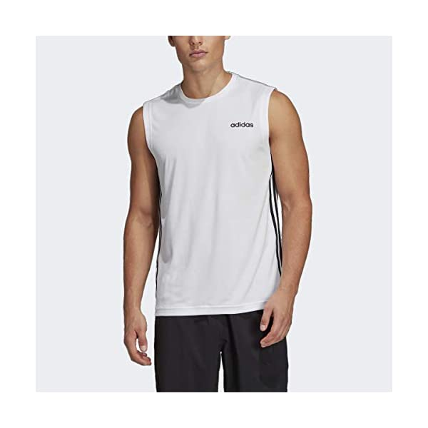 adidas Men's Designed 2 Move 3-stripes Sleeveless Tee 15
