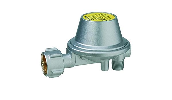 GOK Regulador de presión de gas, 30 mbar, 0,8 kg/h, ángulo de 90°, sin manómetro.
