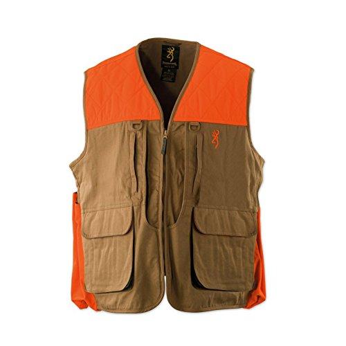 Browning Mens Vest - Browning Pheasants Forever Vest, Khaki/Blaze, Large
