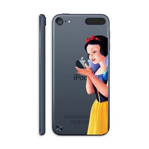 for iPod Touch 5 / 6 - Disney Snow White Princess Holding Logo Clear Transparent Hard Back Protector Case Cover [Apple iPod Touch 5th & 6th Generation Only]