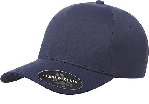 Flexfit Men's Seamless Fitted Flexfit Delta Cap, Dark Navy, Large/Extra Large