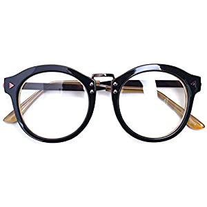 Oversized Big Round Horn Rimmed Eye Glasses Clear Lens Oval Frame Non Prescription