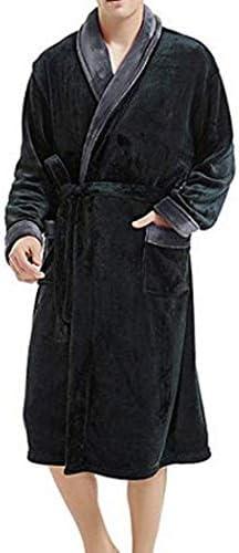 ンパジャマ メンズフード付きソフト&コージー抱擁フリースドレッシングガウンフリースパジャマは軽量暖かいバスローブを設定します。 -4561
