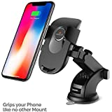 Amkette iGrip Telescopic One Touch Dashboard and Windshielded Car Mount for All Mobile Phones (Black)