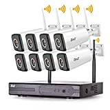BNT Wireless Security Camera System, 8Channel WiFi NVR & 8 x HD 1080P WiFi Waterproof Outdoor Indoor Surveillance Video Cameras Remote Access Security Camera System Wireless No Hard Drive
