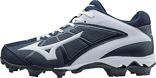 Mizuno Frauen 9 Spike ADV Finch Elite 2 Schnell Pitch Geformte Softball Cleat Marine-weiß