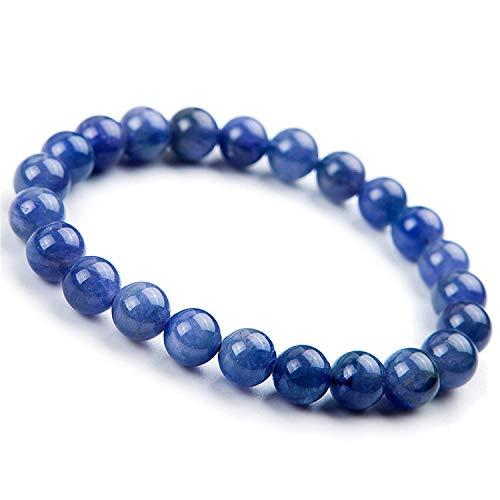 DUOVEKT 8mm Natural Tanzanite Stone Jewelry for Women Men Crystal Blue Gemstone Round Beads Stretch Fashion Bracelet AAAA
