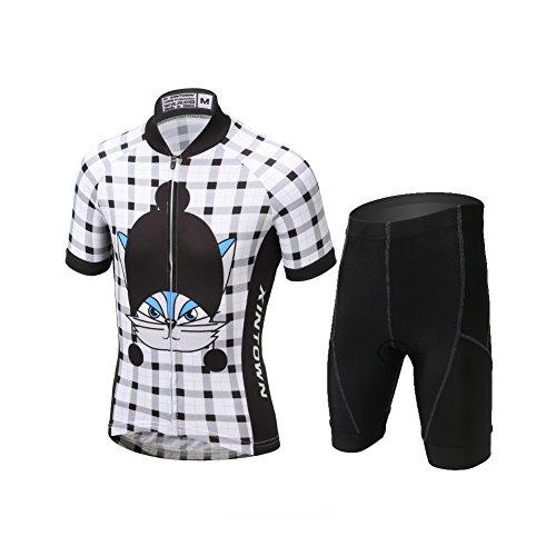 LPATTERN Children Kids Boys' Short Sleeve Cycling Jersey Shorts Set (3D Padded Shorts)