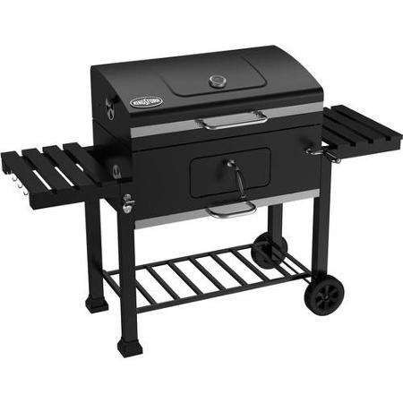Kingsford, 32″ Charcoal Grill, Black Features a Cast-iron Cooking Grid with a High-temperature Painted Lid and Charcoal Pan.