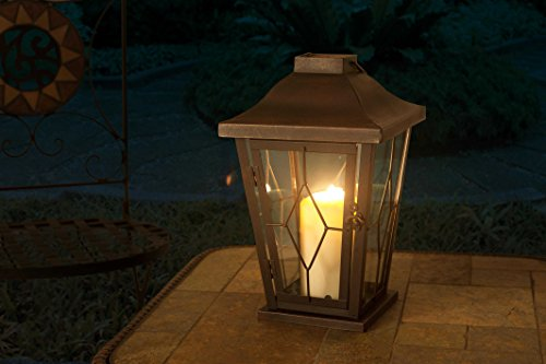 Price comparison product image Sunjoy Small Metal And Glass Carriage Lantern