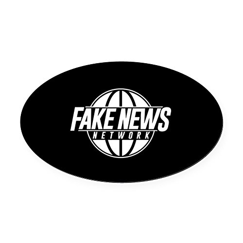 CafePress - Fake News Network - Oval Car Magnet, Euro Oval Magnetic Bumper Sticker