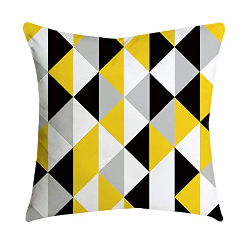 (AOJIAN Home Decor Yellow Square Decorative Cushion Cover Pillow Protectors Bolster Pillow Case Pillowslip,Throw Pillow Covers)