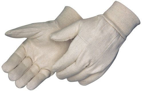 Canvas Glove with Knit Wrist Cuff, Work Glove, Men's Size, Natural (Pack of 12 pairs) … ()