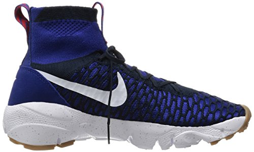 Nike Air Footscape Magista Flyknit - Zapatillas de deporte Hombre Azul (Azul (Dp Ryl Bl/White-Drk Obsdn-Gm M))