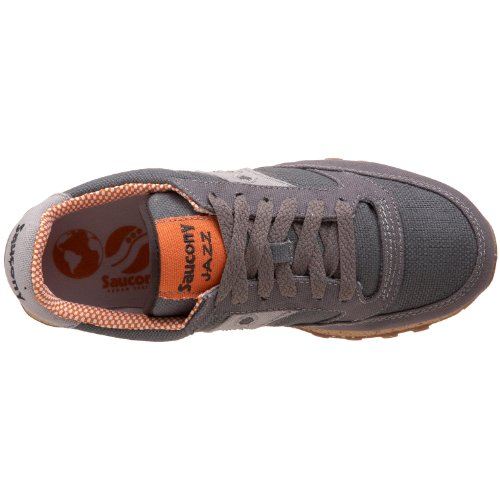 Low M US Women's Jazz Charcoal Originals Saucony 5 Orange Charcoal Sneaker Vegan Orange Pro qatRZSAn