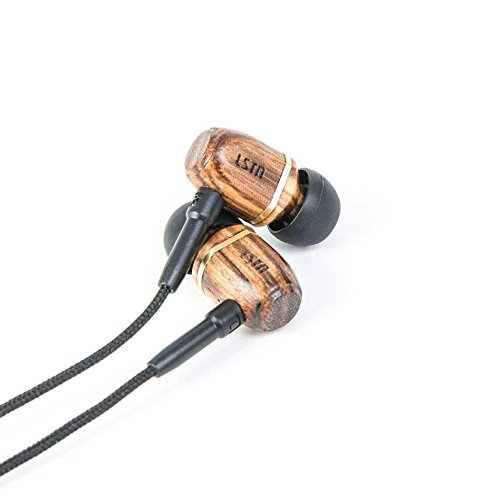 LSTN Bowerys Zebra Wood Noise Isolating Earbuds with In-line