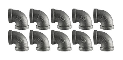 Black Cast Pipe Fitting, Elbow 90, 3/4'', 10-Pack