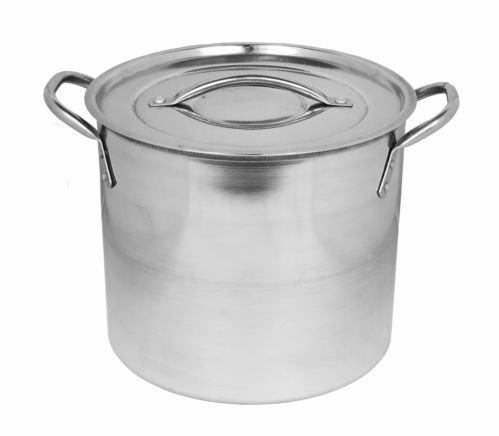 Imperial Stainless Steel Stock Pots Casserole Soup Stew Pot & Lids (5.5 Litre/23cm) by Get Goods