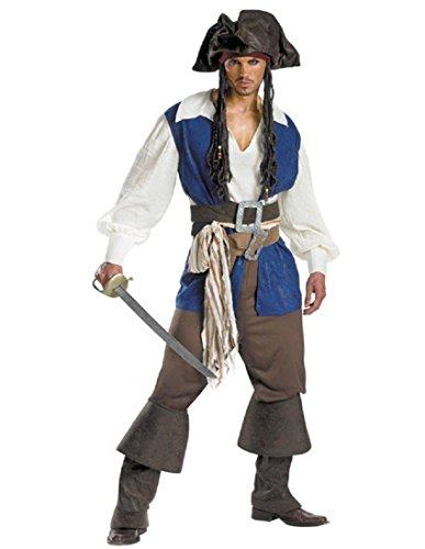 Xxl Pirate Costumes - JACK SPARROW DELUXE PLUS
