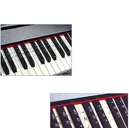 54/61/88 Calcomanías Para Piano En Teclados Blancos Y Negros ...