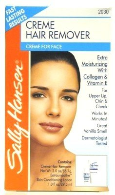Sally Hansen Creme Hair Remover Kit For Face, Lip & Chin  wi