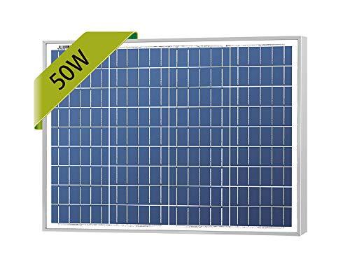 Newpowa 50W Poly Solar Panel 50 Watts Polycrystalline Module for RV,Boat,Home Off Grid System