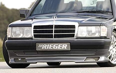 Rieger Frontal Alerón Labio Negro Mate para Mercedes Benz 190 ...
