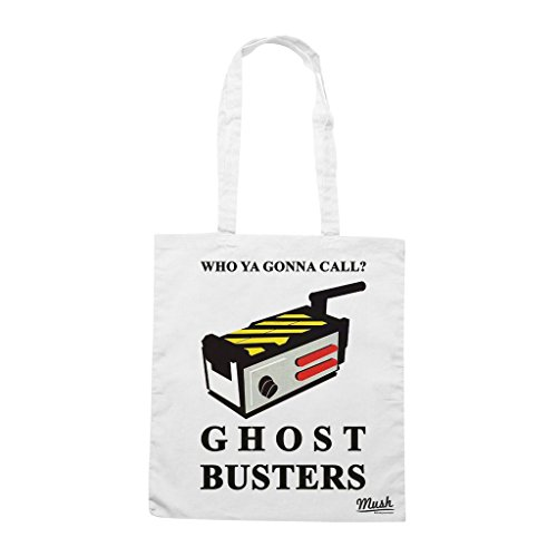 Borsa Who Ya Gonna Call - Ghostbusters - Bianca - Film by Mush Dress Your Style
