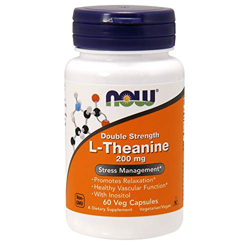 - NOW Supplements, L-Theanine 200 mg with Inositol, 60 Veg Capsules