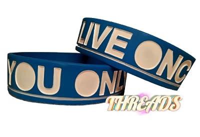 YOLO You Only Live Once Bracelet - Blue
