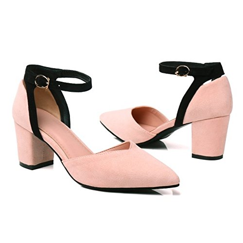 Women Fashion Sandals Ankle Coolcept Strap Pink gxCdFfxWwq