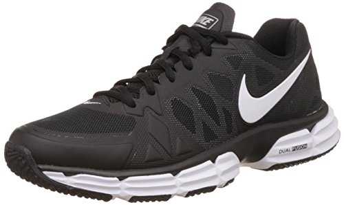 NIKE Dual Fusion TR 6 Men Round Toe Synthetic Trail Running (9.5 D(M) US, Black/White/Mtllc Slvr/Pr Pltnm)