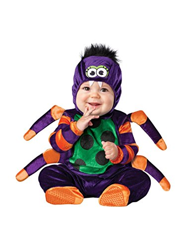 InCharacter Costumes Baby's Itsy Bitsy Spider Costume, Purple/Green/Orange/Black, Large ()