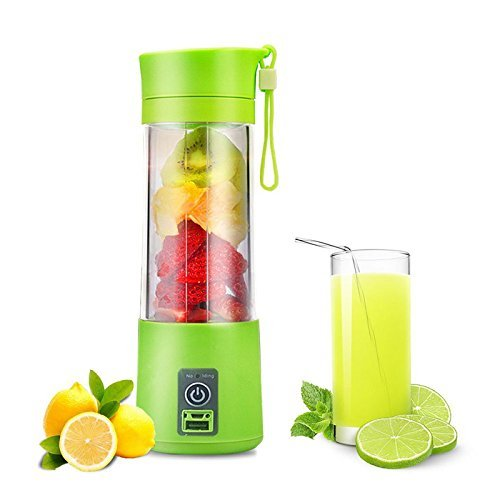 Skewed 4 blade Portable Blender, Personal Size Electric Rechargeable USB Juicer Cup, Fruit Mixer Machine with 4 Blades…