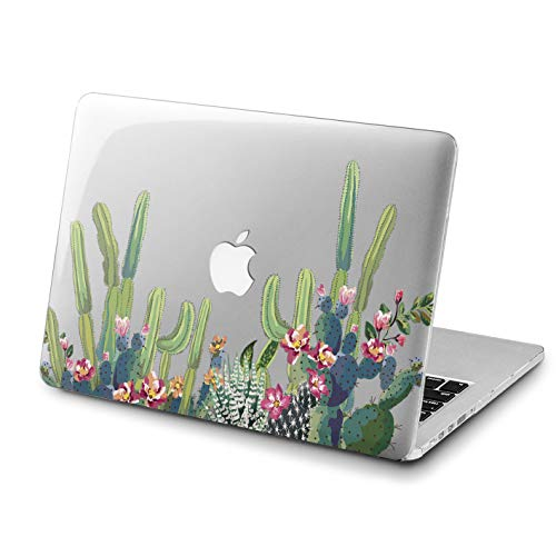 Lex Altern Cactus MacBook Pro 15 inch Hard Case 2018 A1990 A1707 Model Air 13 2017 Mac Retina Display 12 Green Flowers Cover 11 Apple Clear 2016 Plastic Laptop Protective Shell A1502 Girly Print 2015 -