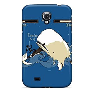 High Grade Adlazquez Flexible Tpu Case For Galaxy S4 - Ahab Vs Moby Dick