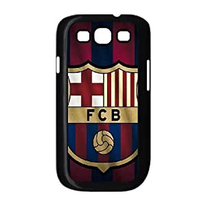 Samsung Galaxy S3 Cases FC Barcelona Stripes Red Blue Gold, Protection Cute FC Barcelona Cases Bloomingbluerose, {Black}