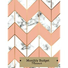 Monthly Budget Planner: : Weekly Expense Tracker, Bill Organizer, Notebook Business Money, Personal, Finance Journal Planning Workbook, Large Size 8.5x11 Inches,Marble Pink & Golden cover (Expense Tracker Budget Planner) (Volume 2).