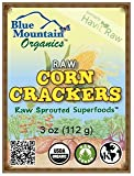 Blue Mountain Organics, Raw, Vegan, Paleo, Organic, Sprouted, Sweet Corn Crackers, Pack of 3 (9 oz)