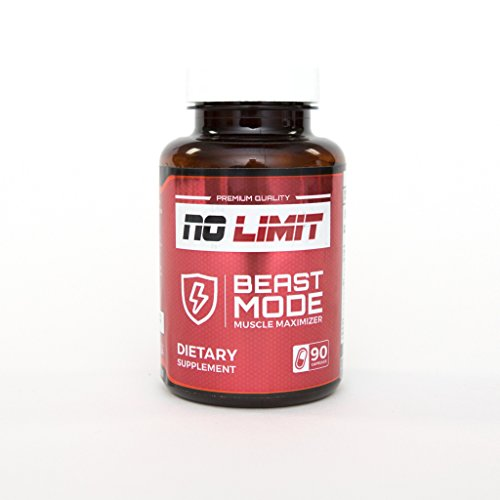 Beast Mode Muscle Maximizer * Muscle Building Supplement * Anabolic Tablets * Hypertrophy Pills * 90 Count