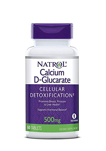 Natrol Calcium D-Glucarate Tablets, 500mg, 180 Count