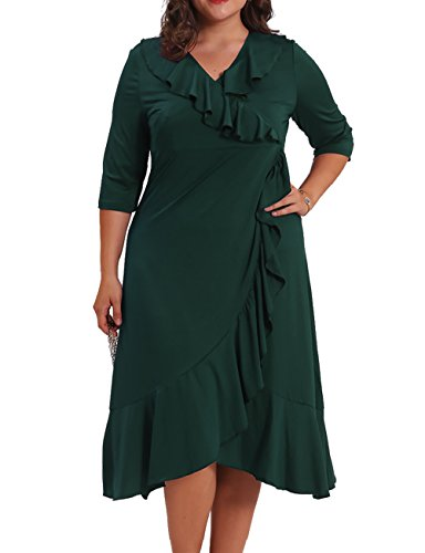 3x green dress - 6