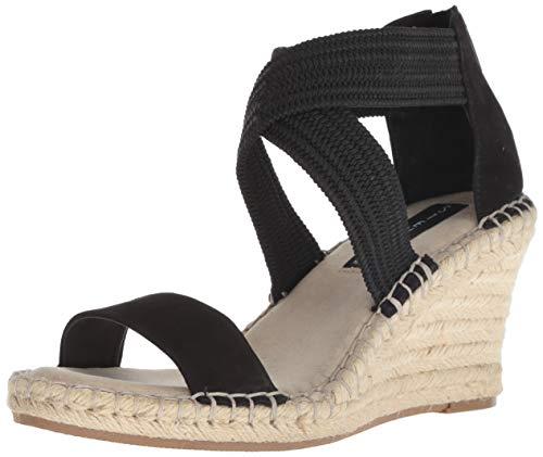 (STEVEN by Steve Madden Women's Excited Espadrille Wedge Sandal, Black/Multi, 9.5 M US)