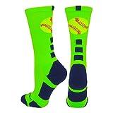 Softball Logo Athletic Crew Socks (multiple colors)