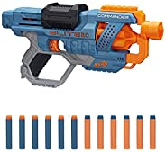NERF Elite 2.0 Commander RD-6 Blaster, 12 Official Darts, 6-Dart Rotating Drum, Tactical Rails, Barrel and Sto