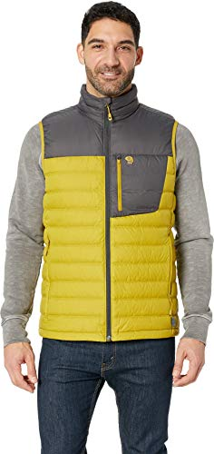 (Mountain Hardwear Men's Dynotherm¿ Down Vest Dark Citron)