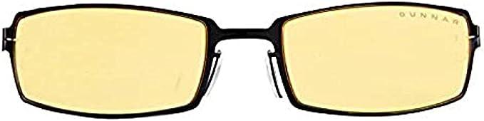 New GUNNAR Computer Glasses PPK 57-20 130 Dark Steel Frame w//Amber Yellow Lenses