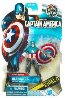 (Captain America Movie 4 Inch Series 1 Action Figure Ultimates Captain)